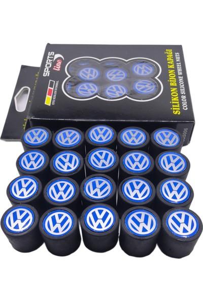 Kuzey Grup Volkswagen Silikon/mavi Kapak Bijon Kapağı 20 Adet