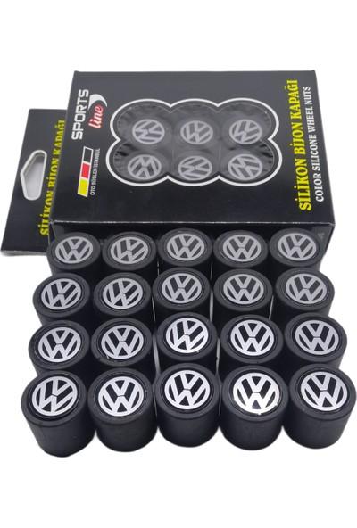Kuzey Grup Volkswagen Siyah Silikon Bijon Kapağı 20 Adet
