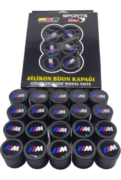 Kuzey Grup Bmw M Logolu Silikon Bijon Kapağı Siyah 20 Adet