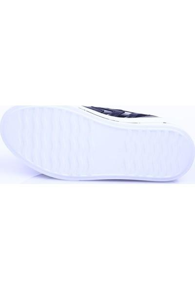 Dgn K1005 Kadın Stretch Detaylı Mega Kalın Taban Bağcıklı Sneakers Ayakkabı 20Y