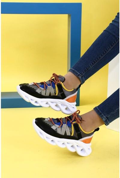 Dgn K105 Bayan Kalın Taban Bağcıklı Sneakers Spor Ayakkabı 20Y
