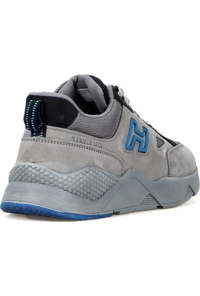 Hammer Jack Haki Deri Erkek Spor Ayakkabı 20753 Gri