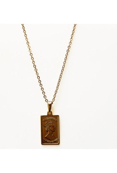 Alışveriş Burada Madalyon Figürlü Kolye