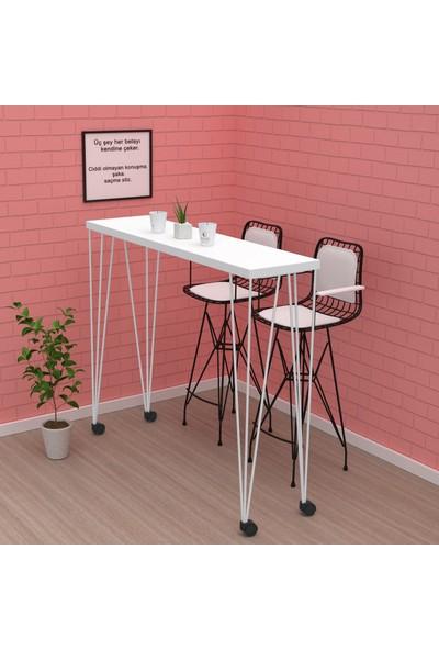 Kenz Life Knsz Yemek Masası İcaz Byzbyz 105 x 120 x 035 Tekerlekli Mutfak