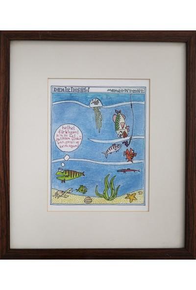 Benim Koleksiyonum Memed Erdener - Karikatür Orjinali