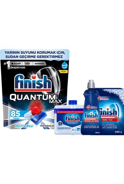 Finish Quantum Max 85 Kapsül Bulaşık Makinesi Deterjanı + Temizlik ve Bakım Seti