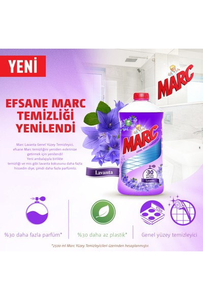 Marc Yüzey Temizleyici Lavanta 2500 ml