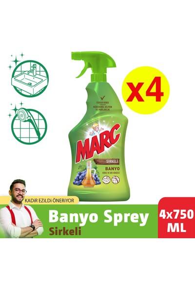 Marc Sirkeli Banyo Spreyi 750 ml x 4 Adet