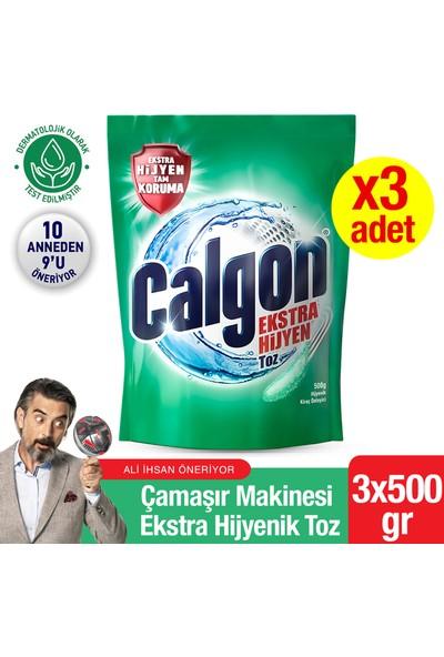 Calgon Ekstra Hijyen Çamaşır Makinesi Hijyenik Toz 3x500 gr
