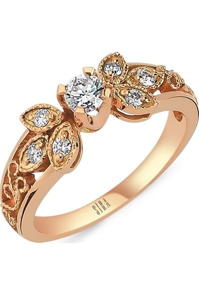Sira Mücevherat Badem Yüzük - Rose