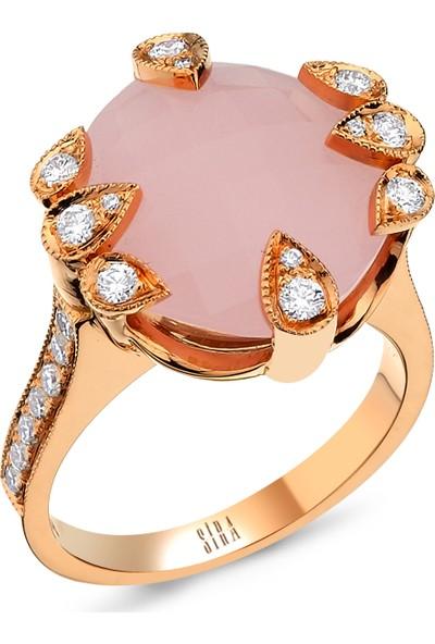 Sira Mücevherat Pink Quartz Yüzük - Rose