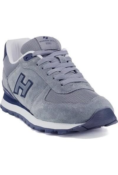 Hammer Jack 19250 Gri Hakiki Deri Kadın Erkek Günlük Spor Ayakkabı Sneaker Kalın Taban Unisex