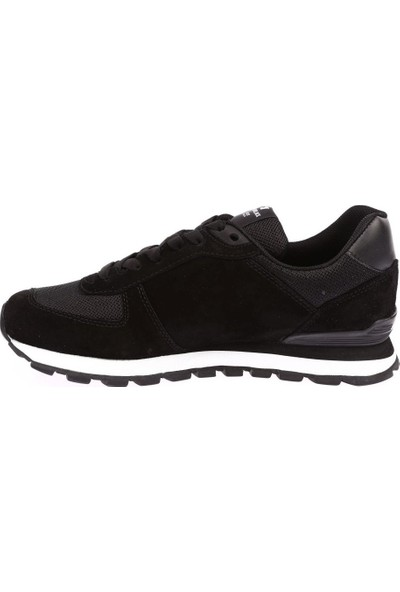 Hammer Jack 19250 Siyah Hakiki Deri Kadın Erkek Günlük Spor Ayakkabı Sneaker Kalın Taban Unisex