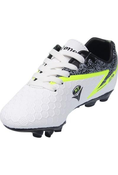 M.p. Çocuk Bağcıklı Beyaz Halı Saha Ayakkabı 211-1804FT