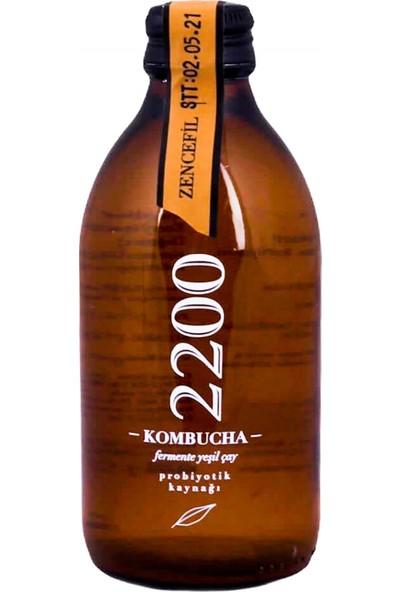 Kombucha 2200 Zencefil Fermente Yeşil Çay 250 cc