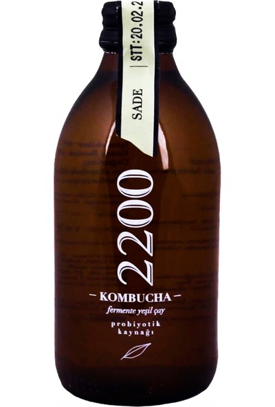 Kombucha 2200 Sade Fermente Yeşil Çay 250 ml