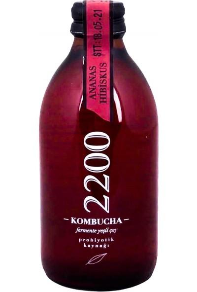 Kombucha 2200 Ananas Hibiskus Fermente Yeşil Çay 250 ml