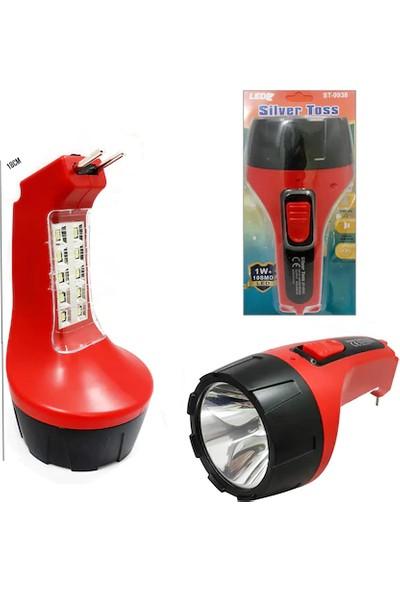 Silver Toss Silver Toss- 9938 Şarj Edilebilir Işıldaklı El Feneri (Trendtahtakale)