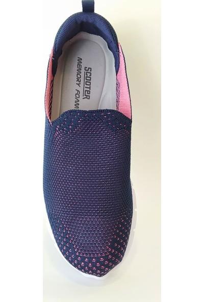 ScooterLacivert Kadın Sneaker Ayakkabı Z5481TL