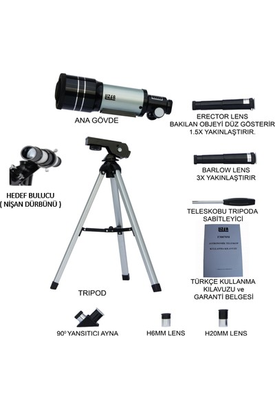 Lizer F30070M Teleskop + A 450 Mikroskop