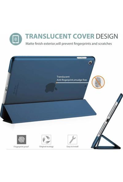 Aksesuarkolic Apple iPad Mini 3 Standlı Kapaklı Kılıf Mavi