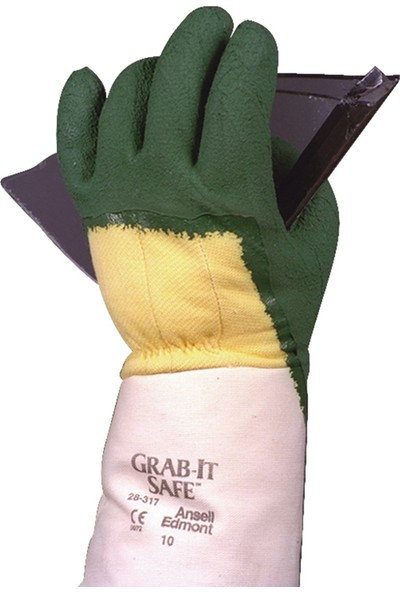 Ansell Grab-It Safe 28-317 Metal ve Camcı Iş Eldiveni 10 No (Xl)