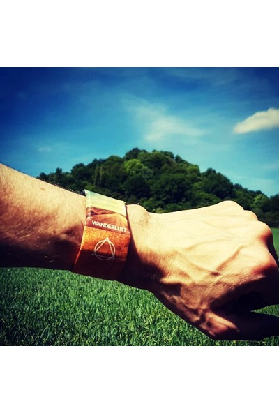CoverZone Paper Watch Su Geçirmez Tyvek Kağıt Bileklik Wanderlust Kol Saati