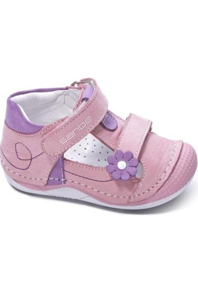 Sanbe 305T2902 Deri Ilkadım Çocuk Ayakkabı-Pembe 18-22