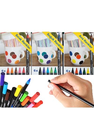 Fotoboya Porselen Boyama Hobi Seti M Harfi Sıcak Renkler