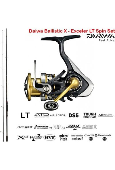 Daiwa Ballistic x - Exceler Lt Spin Olta Seti 244CM 7-28GR-3000DCXH