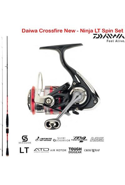 Daiwa Crossfire New - Ninja Lt Spin Olta Seti 244CM 10-35GR-3000CXH