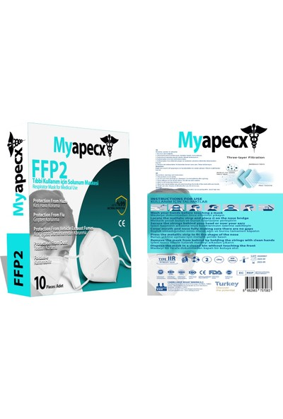 Myapecx Ffp2 Nr N95 10.adet