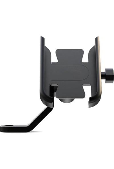 Knmaster TT-500A Alüminyum Gövde Ayna Bağlantılı Telefon Tutucu
