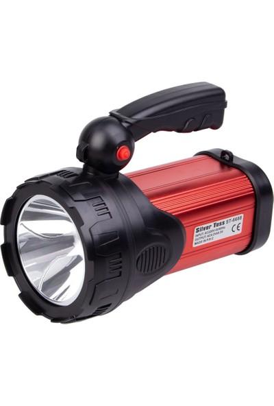 Silver Toss Şarjlı El Feneri LED ST-6688