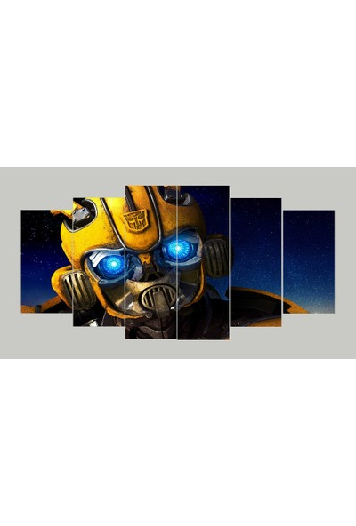 Renk Vagonu Bumblebee 6 Parça Mdf Tablo