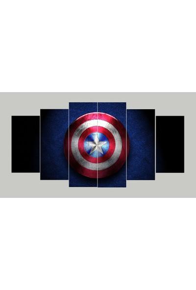 Renk Vagonu Kaptan Amerika 6 Parça Mdf Tablo