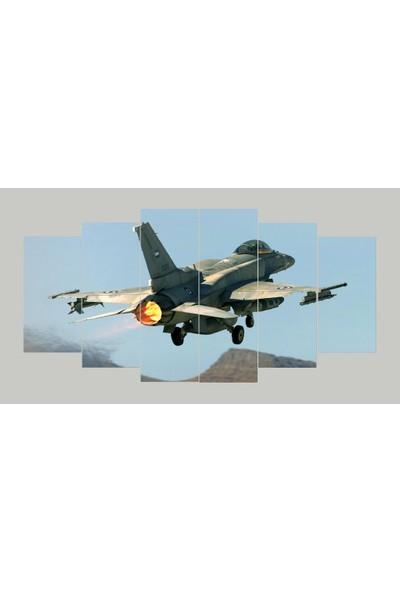 Renk Vagonu Savaş Uçağı 6 Parça Mdf Tablo