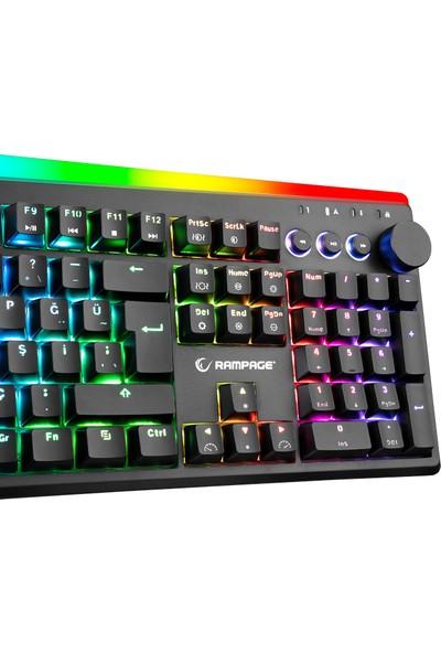 Rampage KB-R97 X-Tracer Mekanik Rgb Aydınlatmalı Blue Switch Gaming Oyuncu Klavye