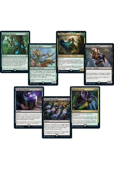 Magic The Gathering Kaldheim Commander Destesi Elven Empire 100 Kart