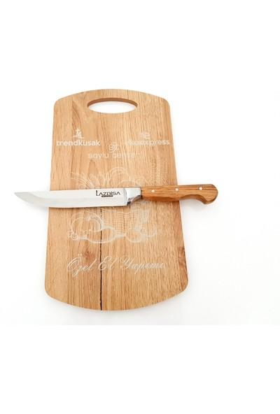 Eko Express Mutfak Bıçağı Ekmek Sebze Meyve Bıçağı Doğrama Tahtası