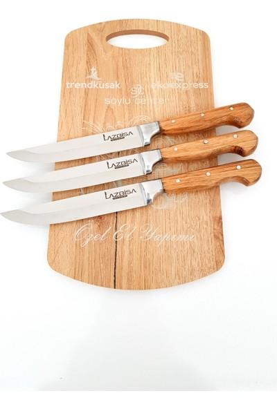 Eko Express Mutfak Bıçağı Ekmek Sebze Meyve Bıçağı 3'lü Bilezikli El Yapımı