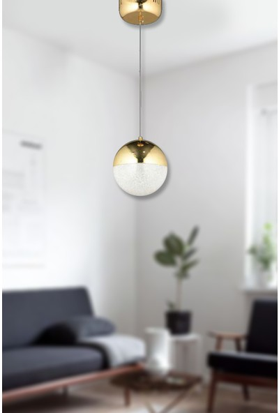 Luna Lighting Modern Luxury Gold Tekli Sarkıt Ledli Avize