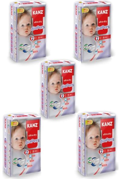 Kanz Mega Paket Bebek Bezi- Mini 3 - 6 kg Koli 5 Li