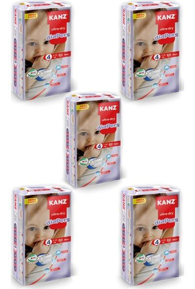 Kanz Mega Paket Bebek Bezi- Maxi 7 - 18 kg Koli 5 Li