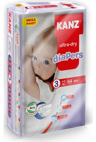 Kanz Mega Paket Bebek Bezi- Midi 4 - 9 kg