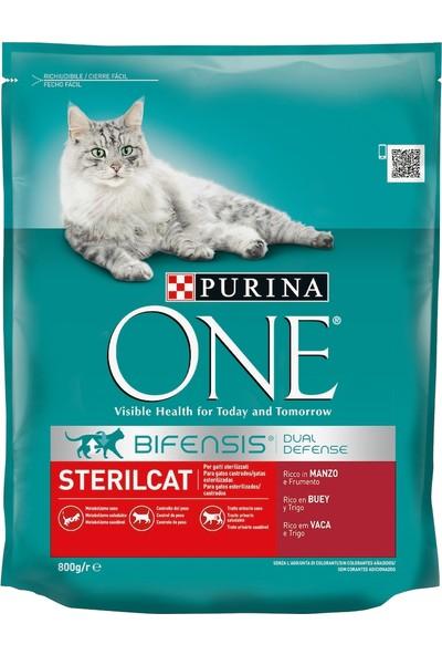 Purina One Sığır Etli Kısırlaştırılmış Yetişkin Kedi Maması 4 x 800 G
