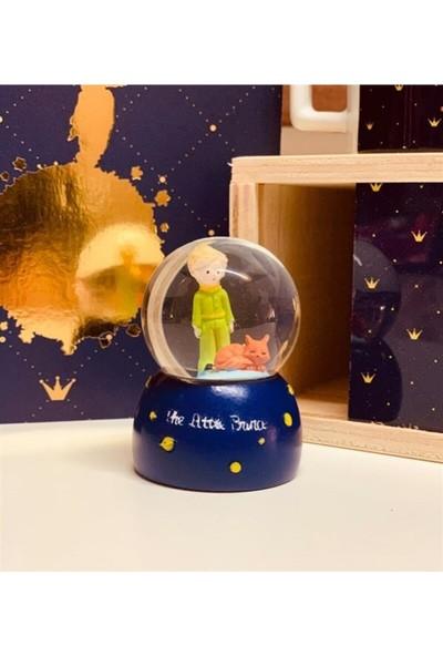 Hediye Filesi Mini Boy Küçük Prens Kar Küresi Işıklı 6.5 cm