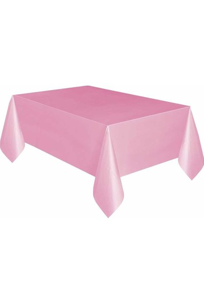 Pembe Plastik Masa Örtüsü 137X270 cm