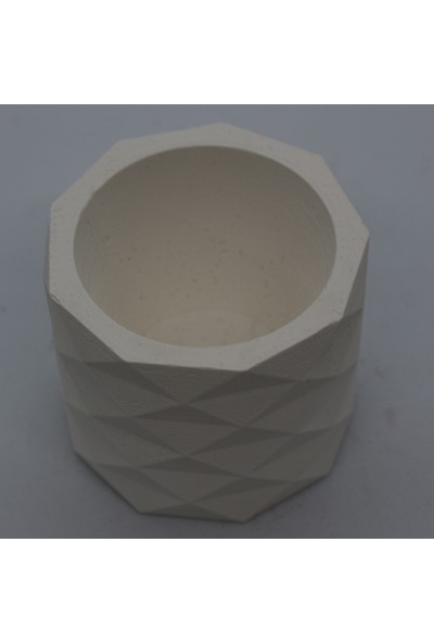 El Yapımı Beton Saksı Geometrik Kaktüs Sukulent Saksısı Renksiz