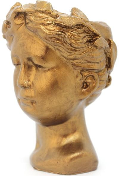 El Yapımı Antik Helen Biblo Saksı Küçük 15 cm